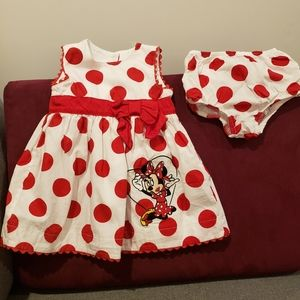 Minnie Mouse dress w/ matching bloomers